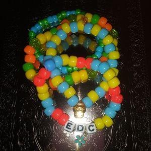 EDC kandi bracelets, Kawaii kandi bundle
